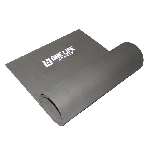 TAPETE YOGA MAT EM EVA ONE LIFE PRETO - 1,80M X 0,60M X 5MM